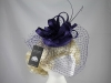 Failsworth Millinery Veiled Headpiece in Damson