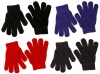 Magic Set of Four Childrens Stretchy Gloves in Dark Colours