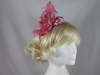 Flower Aliceband Fascinator in Dark Pink