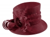 Hawkins Collection Nested Loops Occasion Hat in Dark Red