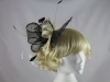 Dark Brown and Ivory Headpiece