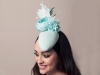 Deb Fanning Millinery Mint Teardrop Headpiece