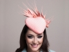 Deb Fanning Millinery Peach Veiled Heart Hat