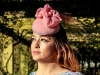 Deb Fanning Millinery Pink Flower and Beads Headpiece
