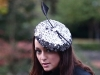Deb Fanning Millinery Silver Sequin Headpiece