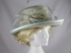 Della Slate Blue Wedding Hat