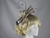 Failsworth Millinery Two Tone Loops Headpiece in Dove & Ivory