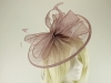 Failsworth Millinery Sinamay Disc Headpiece in Dusk