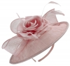 Failsworth Millinery Silk Rose Disc Headpiece in Dusky