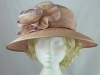 Dusky Pink Wedding Hat