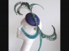 Edel Staunton Millinery Peacock Button Headpiece