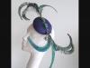Edel Staunton Millinery Peacock Button Headpiece