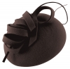 Failsworth Millinery Wool Felt Pillbox in Eggplant