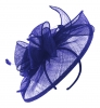 Failsworth Millinery Sinamay Headpiece in Electric