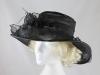 Elegance Collection Black Organza Wedding Hat