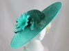 Failsworth Millinery Flower Events Disc in Emerald