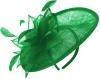 Failsworth Millinery Mini Disc in Emerald
