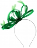 Failsworth Millinery Satin Loops Aliceband Fascinator in Emerald
