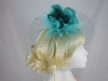 Hawkins Collection Flower and Net Headpiece in Emerald