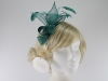 Hawkins Collection Sinamay Leaves Fascinator in Emerald