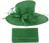 Max and Ellie Events Hat with Matching Large Occasion Bag in Emerald