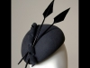 Esther Louise Millinery Felt Beret in Dark Grey