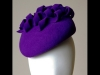 Esther Louise Millinery Electric Purple Felt Beret