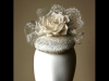 Esther Louise Millinery Ivory Silk Bridal Button