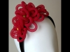 Esther Louise Millinery Raspberry Curls Headpiece