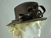Failsworth Millinery Sinamay and Wool Events Hat in Chocolate