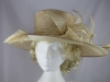 Failsworth Millinery Beige Wedding / Ascot Hat