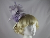 Failsworth Millinery Lavendar Feather Fascinator