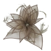 Failsworth Millinery Diamante Organza Fascinator in Fawn