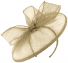 Failsworth Millinery Sinamay Disc in Fawn