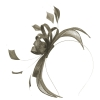Failsworth Millinery Sinamay Fascinator in Fawn