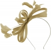 Failsworth Millinery Sinamay Loops Fascinator in Fawn