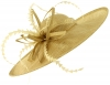 Failsworth Millinery Aliceband Saucer Headpiece in Fizz-Gold