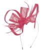 Max and Ellie Flower Fascinator in Flamingo