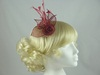 Flower & Leaves Fascinator in Burgundy