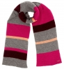 Alice Hannah Abba Multi Colour Scarf in Fuchsia