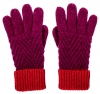 Alice Hannah Alesha Chevron Multi Colour Gloves in Fuchsia