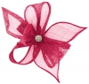 Elegance Collection Diamante Clip Fascinator in Fuchsia