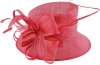 Elegance Collection Quill and Loops Wedding Hat in Fuchsia