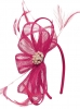 Elegance Collection Sinamay Headpiece Fascinator in Fuchsia
