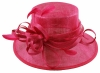 Elegance Collection Sinamay Loops Wedding Hat in Fuchsia