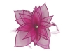 Failsworth Millinery Diamante Organza Fascinator in Cerise