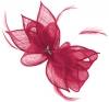 Failsworth Millinery Sinamay Diamante Clip Fascinator in Fuchsia