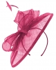 Failsworth Millinery Sinamay Disc Headpiece in Fuchsia