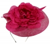 Failsworth Millinery Sinamay Events Headpiece in Fuchsia