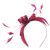 Failsworth Millinery Sinamay Fascinator in Cerise